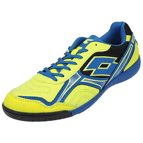 Lotto Torcida XV ID, Chaussures de Football Homme, Multicolore-Amarillo/Azul (YLW SAF/Blu Shv), 47 1/2 EU