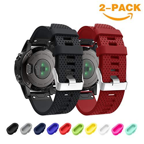 SUPORE Garmin Fenix 5S Bracelet de Montre, Bande de Montre de Remplacement en Silicone Souple pour Garmin Fenix 5S GPS/Fenix 5S Plus Fitness Montre Intelligente, Ajustement 5.31'-8.46'