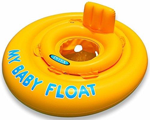 PEGANE Bouée Culotte Baby Float Gonflable Jaune pour Enfant de 6 à 12 Mois - Diamètre gonflé DE 70 cm