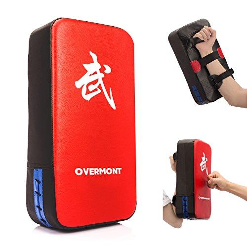Overmont Bouclier de Frappe en Cuir PU 40x20x10cm pour entraînement de Boxe Tækwondo Muay Thai Sanda etc.