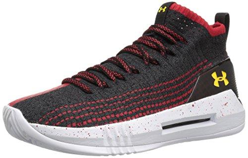 Under Armour UA Heat Seeker, Chaussures de Basketball Homme, Noir (Anthracite 101), 47.5 EU