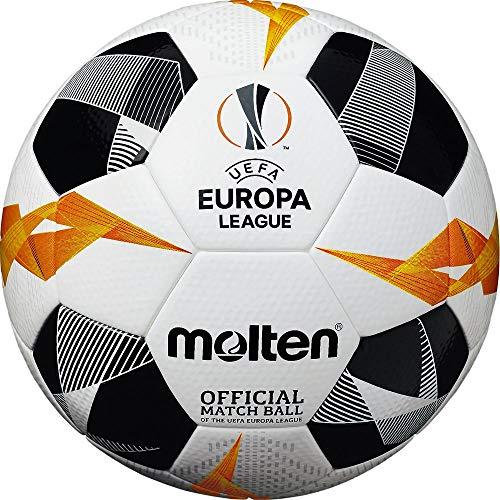 Molten Ballon de Football Unisexe UEFA Europa League Officiel 5003, Blanc/Noir/Orange, Taille 5