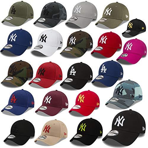 New Era 9forty Strapback Casquette MLB Yankees de New York Los Angeles Dodgers Hommes Femmes Casquette Chapeau Plusieurs Couleurs dans le Bundle avec UD Bandana - Ny Noir #2504, Adjustable