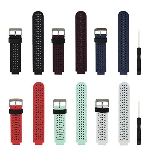 Bracelet de rechange HONECUMI pour montre connectée Garmin Forerunner 230 / 235 / 620 / 630 / 735XT - Taille unique - Avec accessoires, Lot de 6