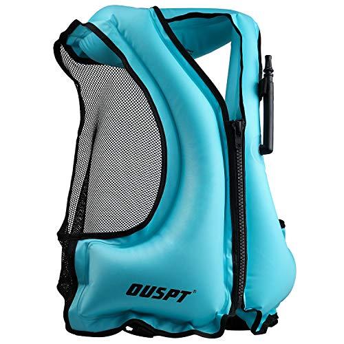OUSPT Adulte Unisexe Portable Gonflable Tuba Gilet pour la plongée en Toute sécurité (Bleu)