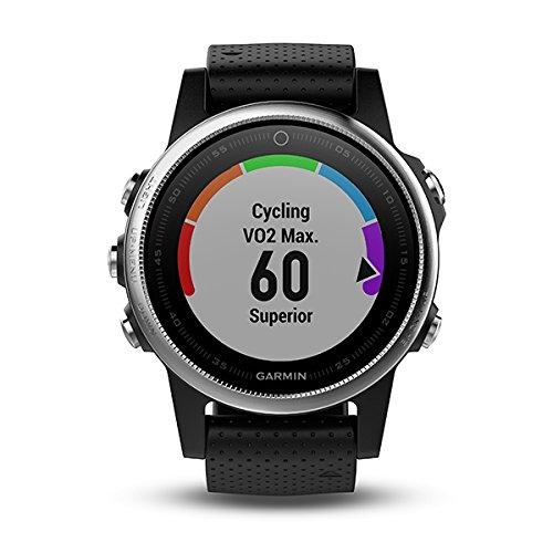 Garmin Fēnix 5S - Montre GPS Multisports Outdoor - Argent avec Bracelet Noir (Reconditionné)