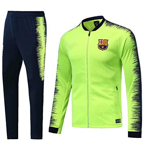 Shi18sport Maillot De Foot A Manches Longues du Maillot De Football Ensemble De Costume De Formation, 1, XL