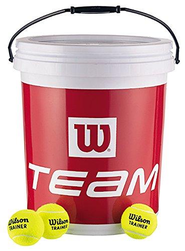 Wilson Balles de Tennis, Trainer Tball, Lot de 72 balles dépressurisées, Jaune, WRT131200
