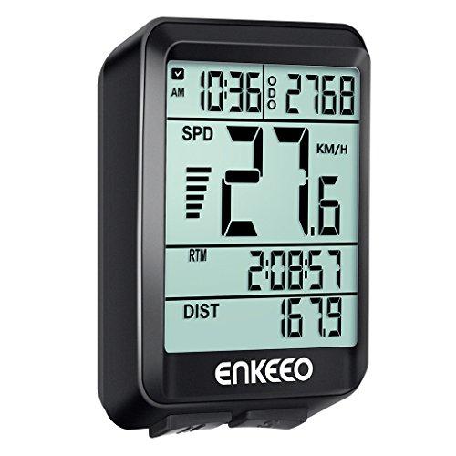 ENKEEO Ordinateur Compteur de Véloavez Actuelle/Moyenne/Maximale Vitesse Speed Tracking Speedometer, Temps de Voyage/Distance pour Le Cyclisme