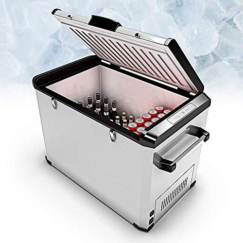 Bluefin Réfrigérateur Congélateur Portable à Compression (24/33/42/60/80L) Mini Refroidisseur avec Adaptateur AC/DC | Nourriture, Boissons, Vin | Camping, Voyage, Pique-Nique | (80 litres d'argent)