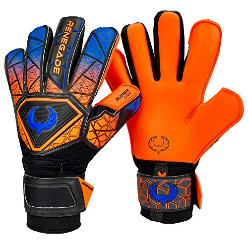 Renegade GK Vortex Salvo Gants Gardien Football pour Enfants Taille 7, Roll-Negative Hybrid Cut, Level 3 avec 6D Super Mesh Body & German Hyper Grip - Garantie 30 Jours