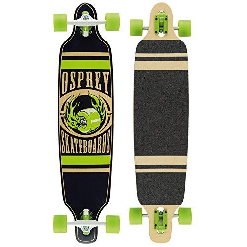 Osprey Hot Wheel Longboard Mixte Adulte, Vert, 39'