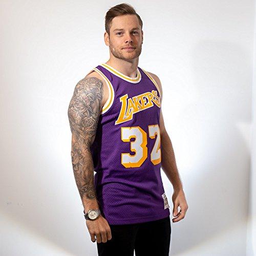Mitchell & Ness - Maillot NBA swingman Magic Johnson Los Angeles Lakers Hardwood Classics Mitchell & ness violet taille - S