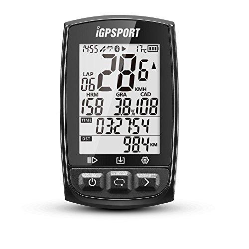 GPS Compteur vélo ANT+ iGPSPORT iGS50E Sans Fil Cycle Ordinateur Compteur Vélo Odomètre Avec Grand Écran (noir)