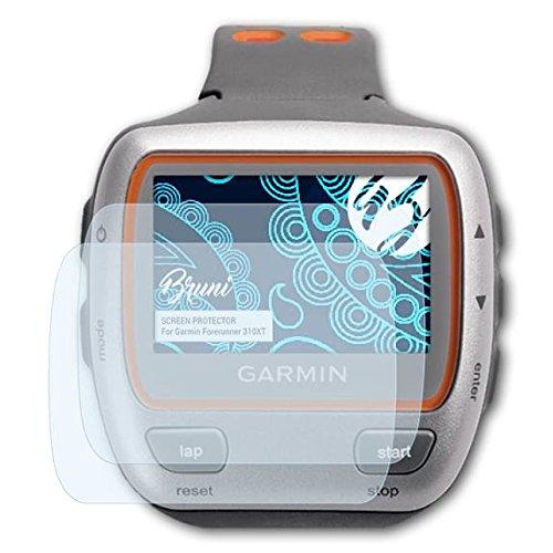 Bruni Protecteur d'écran pour Garmin Forerunner 310XT Film Protecteur - 2 x Cristal Clair Film Protection d'écran