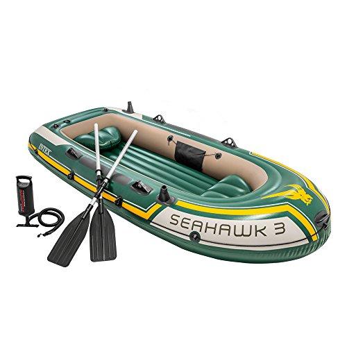 INTEX Bateau gonflable Seahawk 3  vert jaune 2.95m x 1.37m x 0.43m