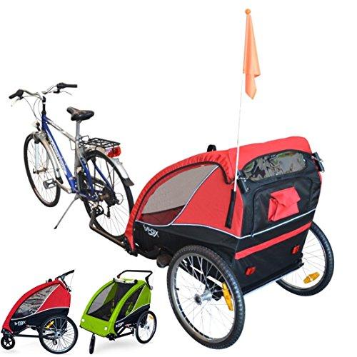 PAPILIOSHOP B-FOX Remorque à vélo pliable poussette chariot pour 1 ou 2 enfants