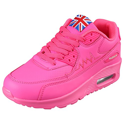 PADGENE Femme Baskets Course Gym Fitness Sport Chaussures Air Rose Taille EU 38