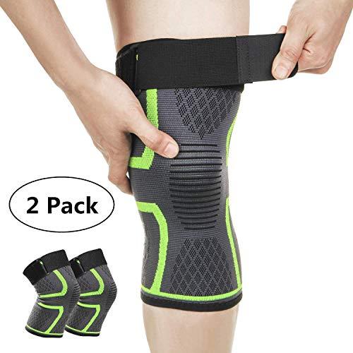 Attelle Genou Ligamentaire Neoprene Genou Compression Crossfit Bandage Réglable Genouillère Vtt Pour Sport Tendinite Ligament Arthrose Paire