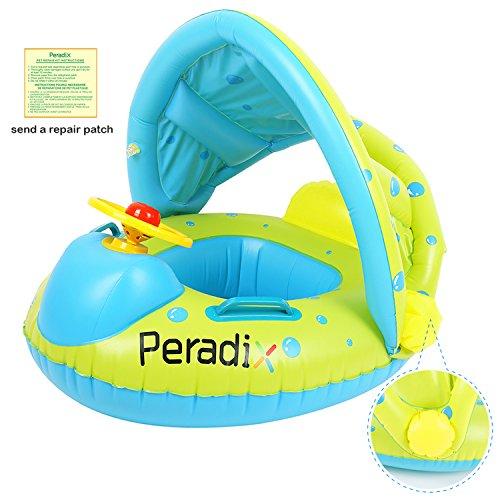 Peradix Bouée Siège Gonflable Piscine Gonflable Enfant Bébés 6 - 36 Mois Baignoire Piscine PVC Matériel (Bleu Vert)