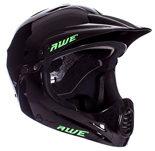 AWE BMX Casque Complet Noir Taille Moyenne 54-58 cm
