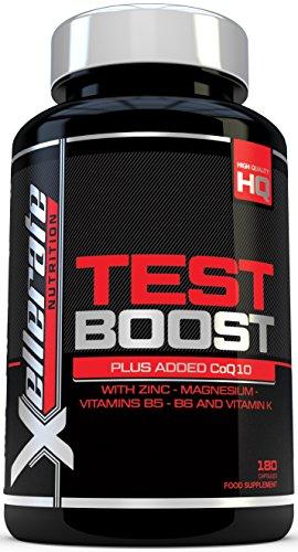 Testez le Booster pour Hommes - 180 Capsules de Complément pour le Support de la Testostérone - Les ingrédients Contribues au maintien d'un Niveau de Testostérone Normal & réduisent la fatigue
