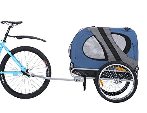 Leonpets Animal Remorque de vélo pour chien Chariot Transporter avec raccord universel bleu 10117