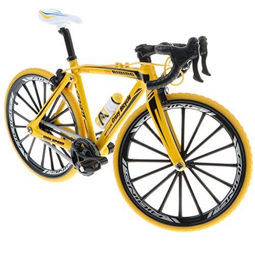 perfeclan 1:10 Vélo De Course Alliage Simulation Moulé sous Pression Modèle Vélo Modèle Jouet Décor - Jaune 2