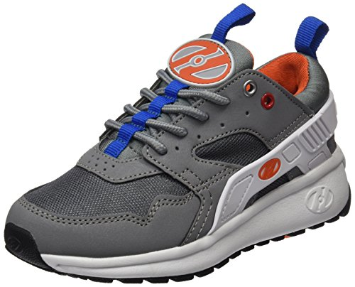 Heelys Force, Baskets Hautes garçon, Gris (Grey/White/Orange), 33 EU