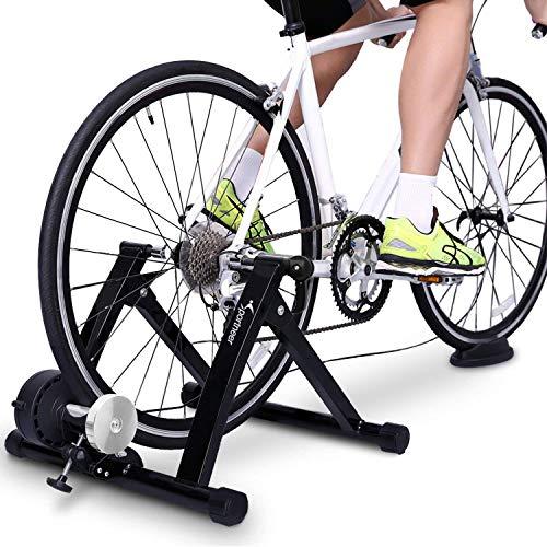 Sportneer Support d'entrainement pour vélo - Support magnétique pour Entrainement de vélo en Acier avec Roue réductrice de Bruit