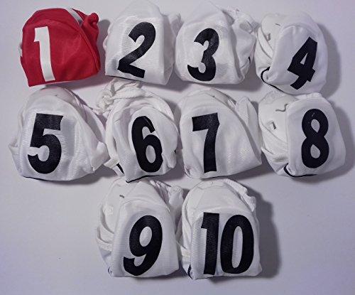 Kit casque waterpolo Caps Water-polo Junior 10pz, 1 rossa e 9 bianche