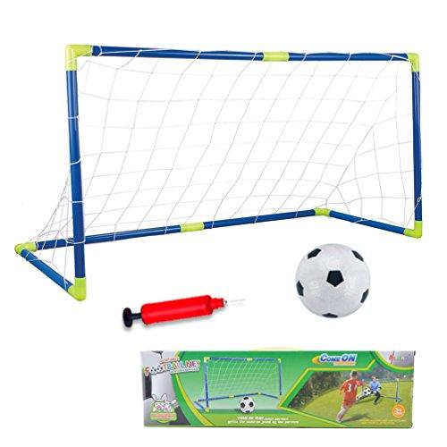 Cage et Mini But de Football Ensemble Jeux de Plein Air et Sport Set Entrainement de Foot pour Enfants avec Boule Filet Pompe - 120 * 46 * 62cm
