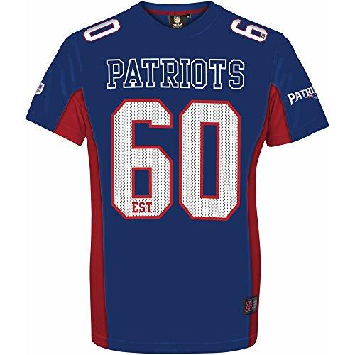 Majestic NFL NEW ENGLAND PATRIOTS Moro Mesh Jersey T-Shirt, Größe:L