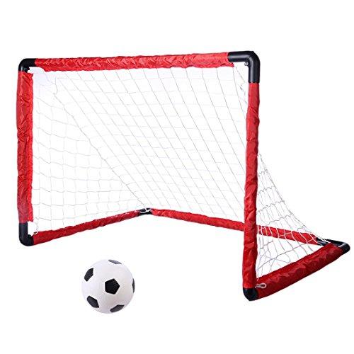 ANNA SHOP Jouet de Football But Pliable Cage de Foot Portables avec Un Football Entrainement pour Enfant Les 3+