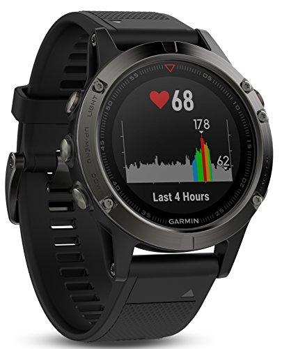 Garmin Fēnix 5S - Montre GPS Multisports Outdoor - Argent avec Bracelet Noir
