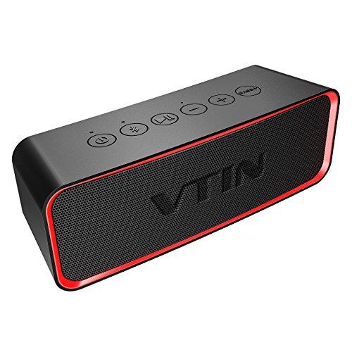 VTIN Enceinte Bluetooth Portable V4.2 Haut-Parleur sans Fil Waterproof IPX6 avec Basses Puissante et Audio Classique, Enceinte Extérieur Etanche Pilote Double Anti-Choc
