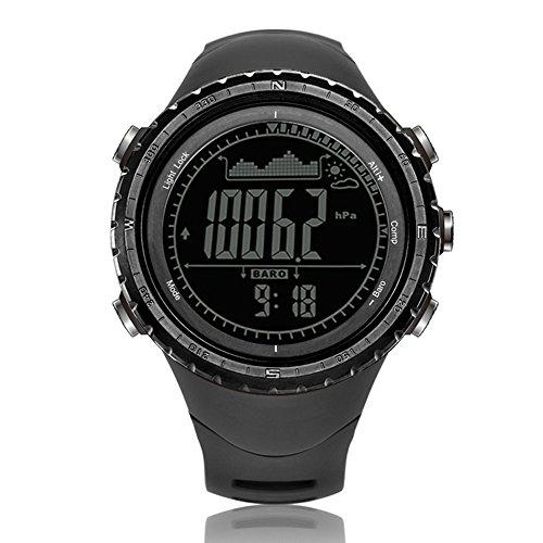 North Edge Homme Militaire Multifonction Digital rétroéclairage LED Montre électronique étanche Chronomètre Alarme Montre de Sport