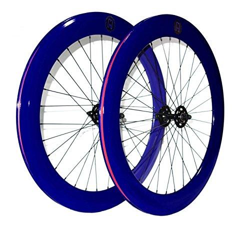 Couple de roues ou mowheel pour vélo fixie single speed. Profil 70mm