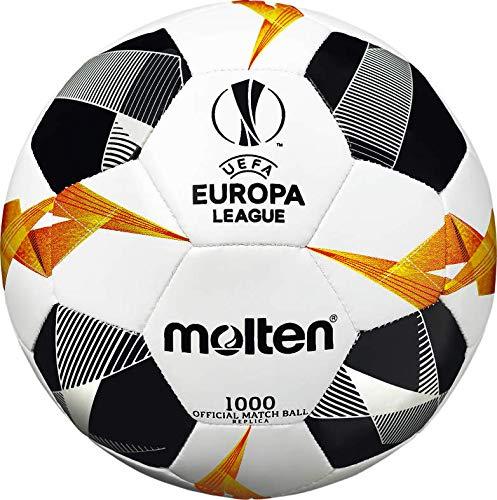 Molten Ballon de Match Officiel UEFA Europa League 1000 Blanc/Noir/Orange Taille 1