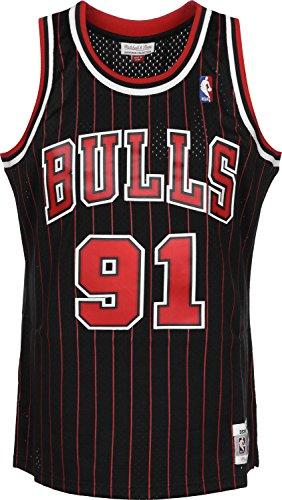 Mitchell & Ness - Maillot NBA swingman Dennis Rodman Chicago Bulls 1995-96 Hardwood Classics Mitchell & ness noir taille - XXL