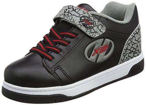 Heelys X2 Dual Up, Chaussures de Tennis garçon, Noir (Black/Grey/Elephant), 35 EU