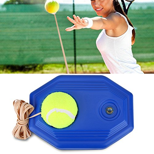 Ensemble de Balles de Rebond de Tennis Formateur Inclus Balle de Tennis et Corde élastique en Caoutchouc pour Débutant