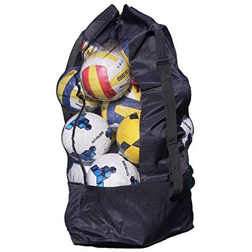 Sac à Ballon Filet de Ballon Sac en Maillet pour Boule Grande Capacité de 15-20 Ballons Sac de Transport pour Basket-ball Football Volley-ball Sac Bandoulière Rangement des équipements de Sport Plage