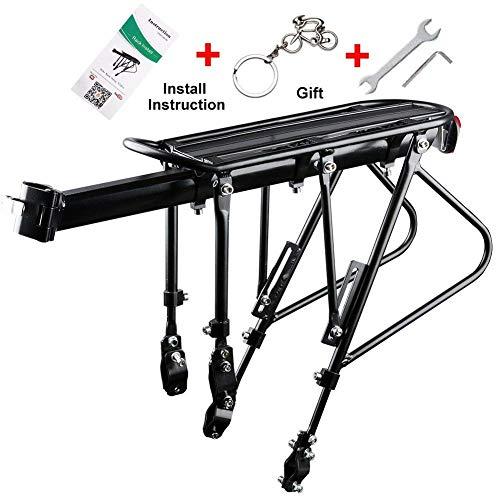 Support de transporteur de vélo, 140 kg de capacité de roulements solides Support de bagages de vélo réglable universel, vélo de support d'équipement de vélo