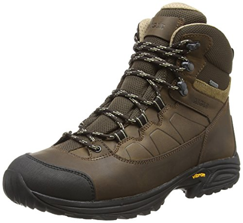 Aigle Mooven Leather Gore-Tex, Chaussures de Randonnée Hautes Homme, Marron (Darkbrown), 43 EU