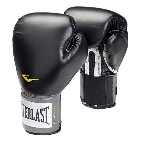 Everlast Velcro Pro Style - Gants de boxe d'entraînement - Noir - 12