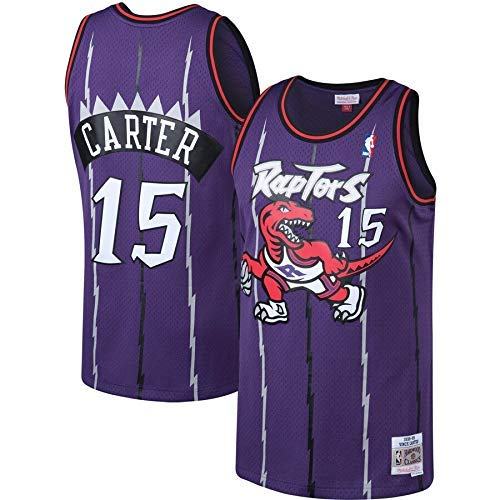 LAMBO Maillot NBA HommeToronto Raptors # 15 Vince Carter Swingman Edition Jersey, Vêtements de Sport, T-Shirt sans Manches Unisexe, Maille 2019 (Purple Vintage,XL)