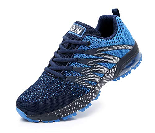 Azooken Homme Femme Sneakers Chaussures de Course Running Sport Fitness Gym Outdoor athlétique Multisports Casual(8995 Blue37)