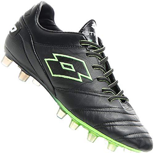 Lotto Stadio 45 FG, Chaussures de Football Homme, Noir (Blk/Mint FL 000), 42 EU
