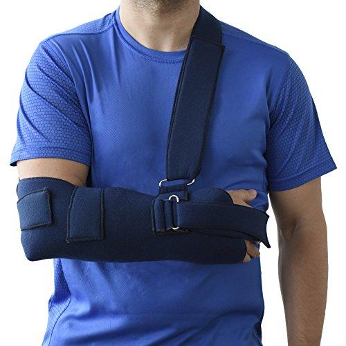 ORTONES | Écharpe de bras et d'immobilisation épaule (Taille unique) bleue.